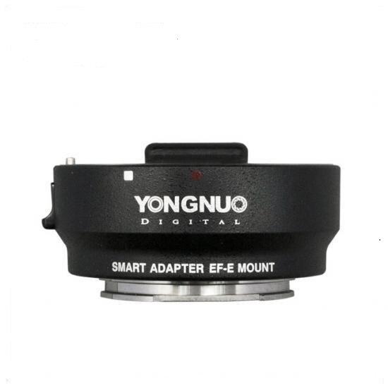 Nova yongnuo inteligente adaptador de lente ef-e adaptador de montagem para canon ef lens para sony nex inteligente mark iii (preto) EF para E-Mount