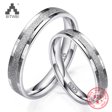 100% 925 Sterling Silver Ring Fashion Charm Jewelry Unique Frosted  Couple Finger Holiday Gift