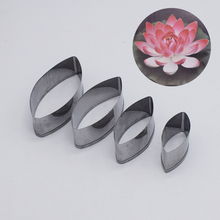 Stainless Steel Cut Mould Water Lily Lotus Petal Mold Soft Paper Clay Flower Making Pattern Cutter Tools