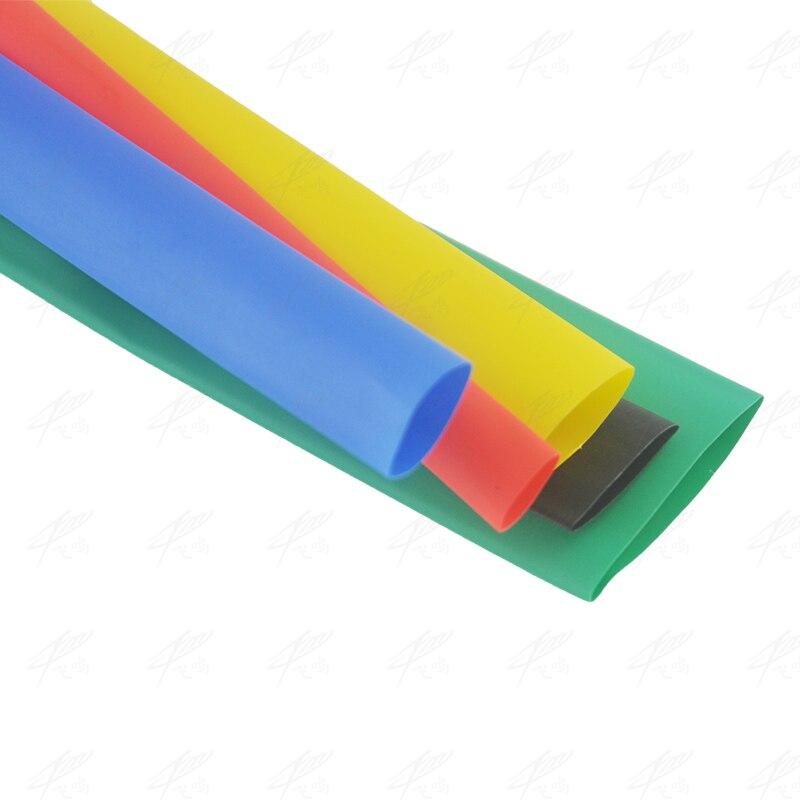10 metros 1mm 2mm 2,5mm 3mm 4mm 5mm 6mm termorretráctil manguito tubo de alambre manga de aislamiento