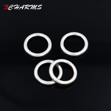 10pcs/lot 20mm Hole Spacer Beads fit Bracelets Necklaces Closed Jump Rings For Handmade DIY Jewelry Making Accessories