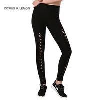 CITRUS LEMON Sport Leggings Running Women Yoga Tights Casual Pants Women S Leggings Workout Fitness Leg