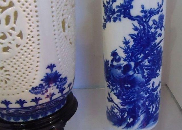 Prekrasan kineski porculan 2 postavljen dvostruko šuplje rezbarene - Kućni dekor - Foto 5