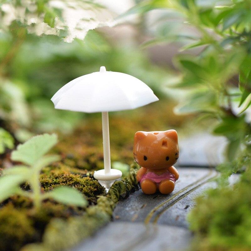Mini 4pcs Umbrellas Decoration Supplies Moss Micro Landscape Deco Garden  Deco Creative Handicrafts In Figurines U0026 Miniatures From Home U0026 Garden On  ...