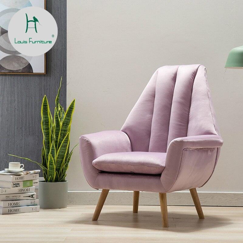 Simple Living Room Furniture Big: Louis Fashion Living Room Chairs Nordic Velvet Modern