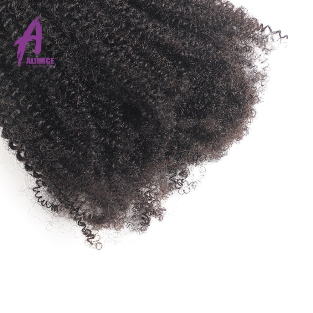 Alimice Brazilian Afro Kinky Curly Weave Human Hair 3 Bundles With Closure Remy Hair Brazillian Hair Weave Bundles With Closure (12)