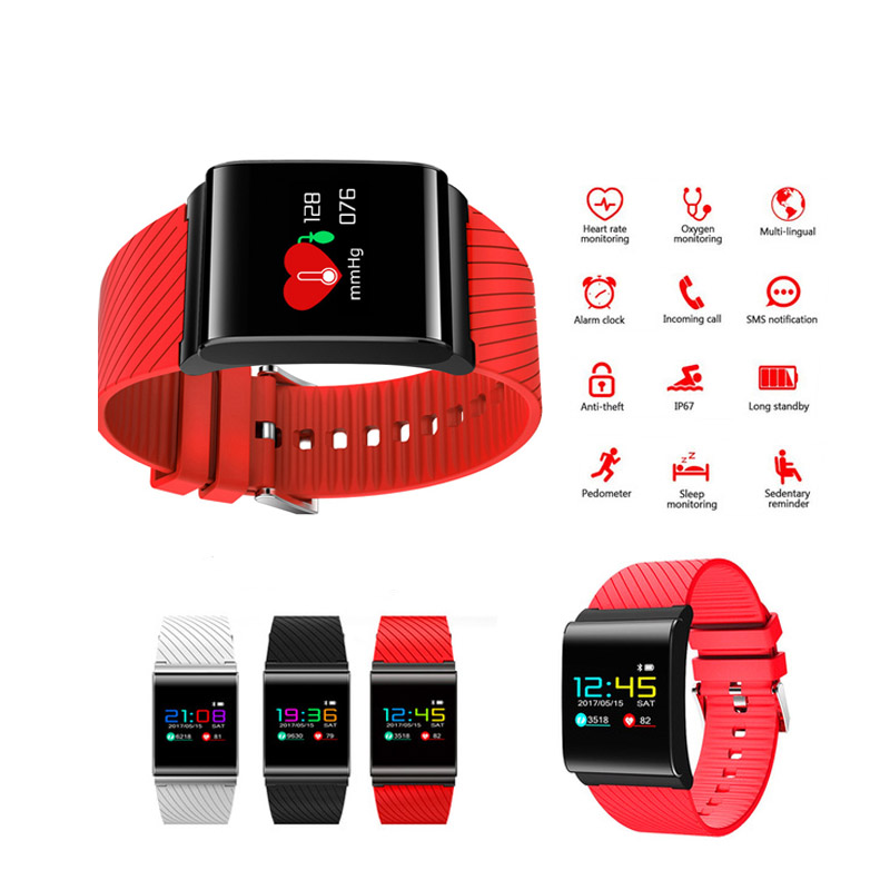 New X9 Pro Smart Wristband Colorful Screen Smart Bracelet Heart Rate Monitor Pedometer Waterproof Bluetooth 4.0 Smart Watch men x9 plus smart bracelet with silica gel red
