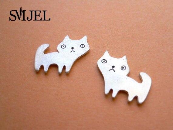 SMJEL 10 PCS-S071 Fashion jewelry new Cat Stud Earrings for Women Kawaii Kitten Earing Girl Gifts