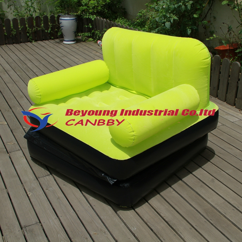 Living Room Air Furniture Bestway Flocked Inflatable Single Air Sofa