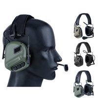 Military Airsoft Shooting Headset Earmuff Microphone Tactical Headsets Use with PTT Earphone Shooting Hunting Accessories