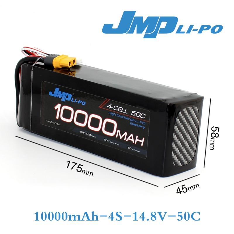 1 pcs JMP Lipo Batterie 4S 10000 mah Lipo 14.8 v Batterie Pack 50C Batterie pour Hélicoptères RC Modèles akku li-polymère Batterie