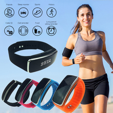 Smart Bracelet Wristband band business watches Fitness Tracker Bluetooth Smart Pedometer waterproof LED display mother'gift H4