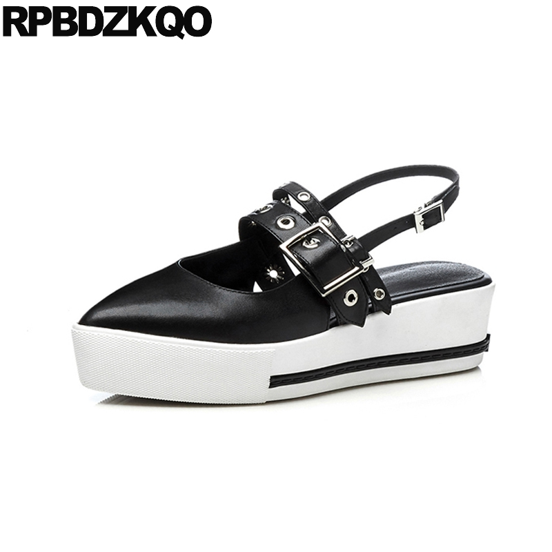 Breathable Swing Sandals Nurse Designer White Summer Hollow Out Platform Women Slingback Wide Fit Shoes Ladies Pointed Toe Mules 2500p r dc 5 24v powered electric rotary encoder e6b2 cwz6c