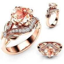 Mosovy Циркон инкрустированные с полой бабочкой розовое золото обручальные кольца для женщин Стразы с бантом обручальное кольцо для женщин ювелирные изделия