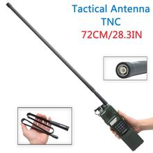 72 CM/28.3IN Lengte ABBREE SMA Female Dual Band 144/430 Mhz Opvouwbare CS Tactische Antenne Voor walkie Talkie Baofeng UV 5R UV 82 BF
