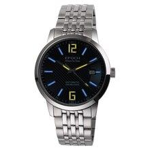 (Новый) epoch 6026G-B стали ремешок водонепроницаемый 50 м Тритий Светящиеся мужские бизнес ультратонкий Автоматический Механические наручные часы