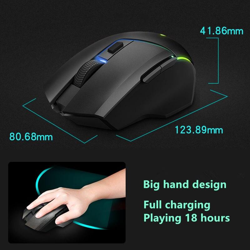 Rapoo double modèle souris de jeu sans fil 5000 DPI 7 boutons PUBG souris d'ordinateur souris pour FPS PC ordinateur portable Gamer - 5