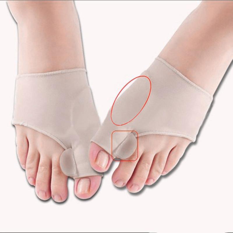 Foot Hallux Valgus Correct Correction Big Toe Bunion Separator Corrector Orthotics Toe Separator Bandage Cover Cocks Bunion Pads