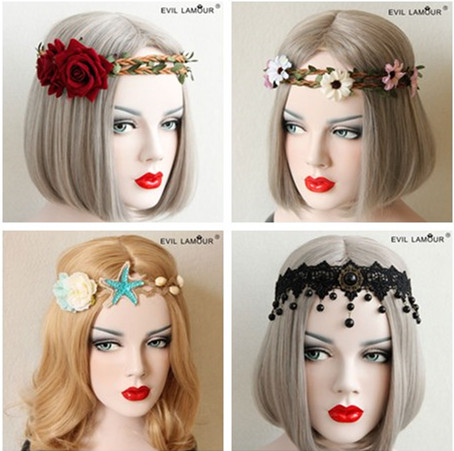 aliexpresscom buy fashion party prom queen hair accessories leaf flower crown headband for women night bar christmas halloween hairband 4 from reliable