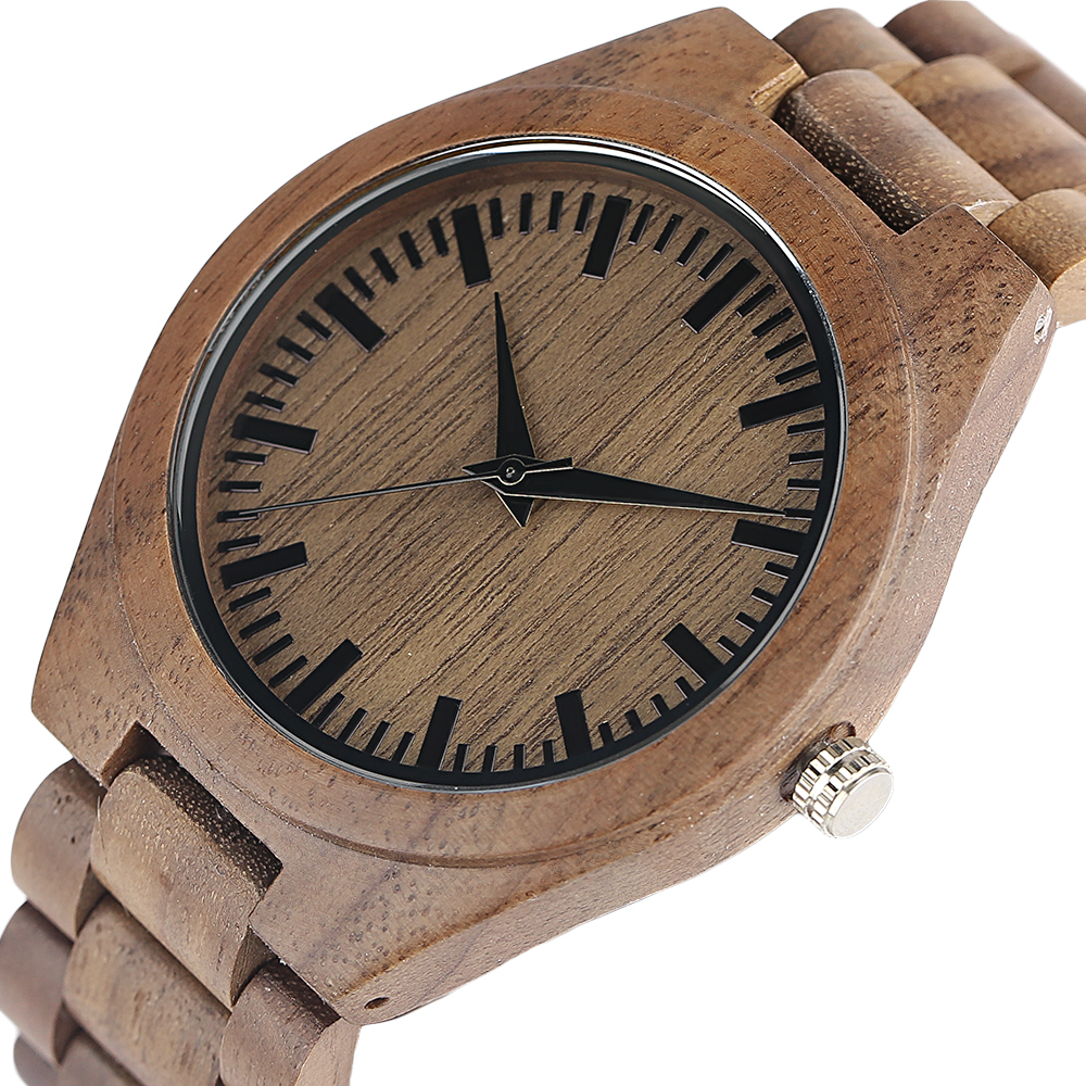 YISUYA Nature Bamboo Wood Creative Watches Men Casual Sport Wooden Quartz Wrist Watch Men Women Flod Clasp Band Bangle Clock  (18)