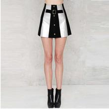FFTAIQI new street fashion spring summer patchwork woman skirt leisure classic single-breasted slim show thin women short skirts
