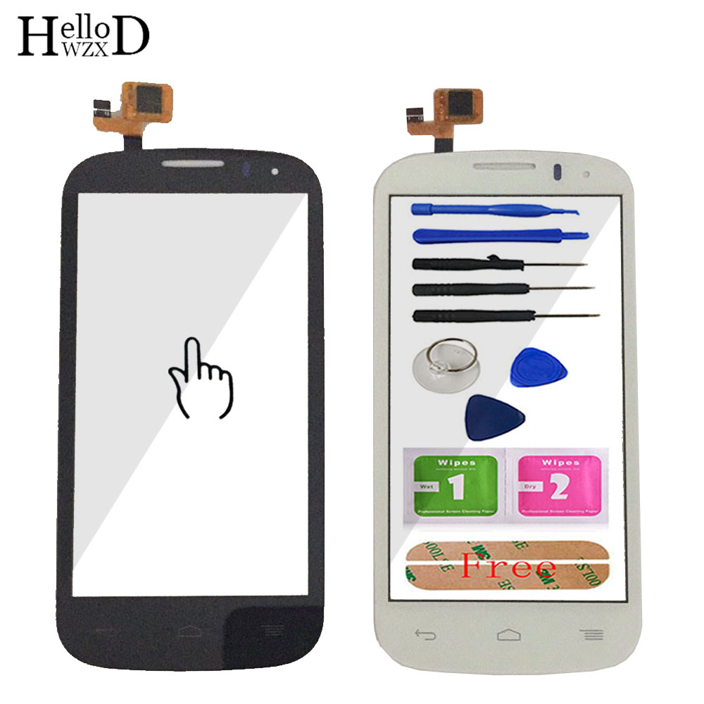 Touch Screen Glass For Alcatel One Touch Pop C5 Ot5036 5036 5036D Sensor Digitizer Flex Cable Touchscreen Tools Adhesive