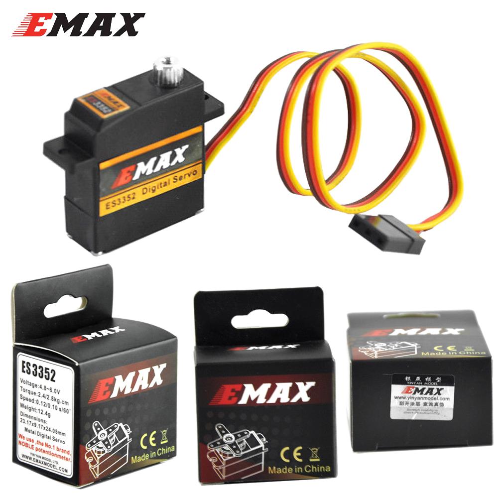 EMAX ES3352 Brushless Digital Servo 4.8V/6.0V 2.4/2.8Kgf.cm For RC Glider MODEL /AIRPLANE