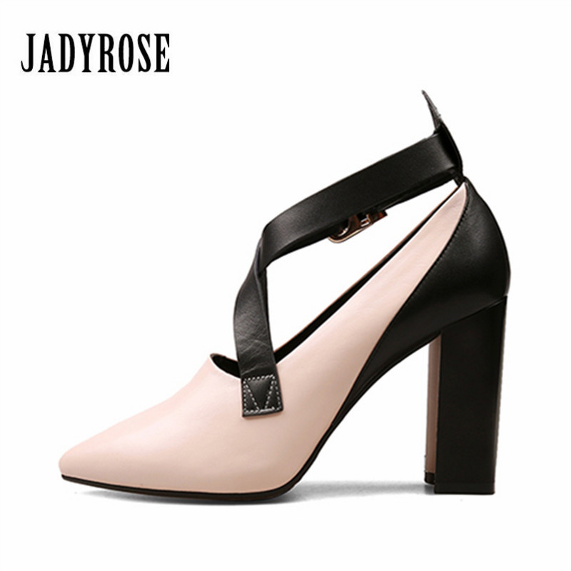 Jady Rose Mary Jane High Heel Shoes Woman Pointed Toe Women Pumps Gladiator Genuine Leather Wedding Dress Shoes Valentine Shoe тени для век vivienne sabo ombre a paupieres resistante solo petits jeux 118 цвет 118 variant hex name 1d1713