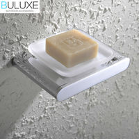 BULUXE Brass Bathroom Accessories Wall Mounted Soap Dish Holder Bath Acessorios de banheiro Soap Box HP7738