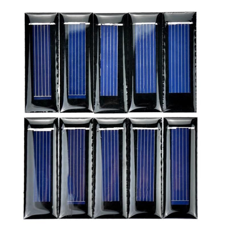 HOT-10Pcs Mini Solar Panel New 0.5V 100mA Solar Cells Photovoltaic panels Module Sun Power battery charger DIY 53*18*2.5mm