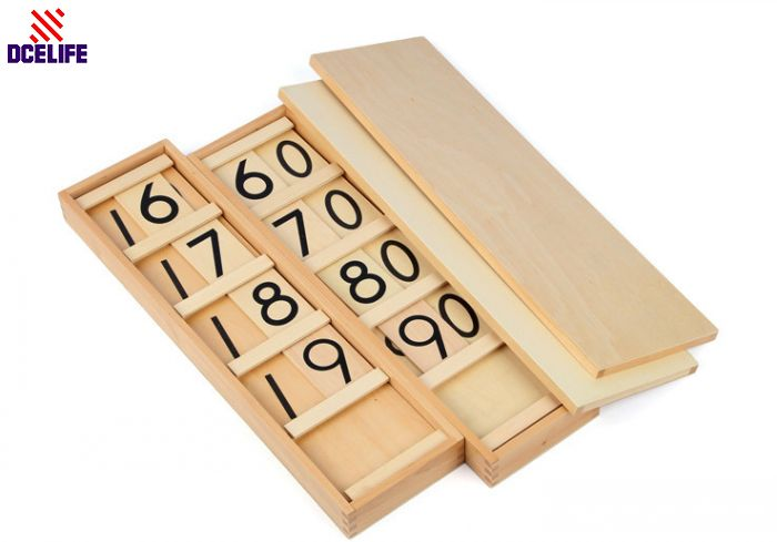Upgraded Montessori Materials Montessori Wooden Number Math Game Cards Education Toy Children Educational Toys Free Shipping montessori materials colorful locks box toys for kid children preschool educational toy memory game wooden montessori lock tool