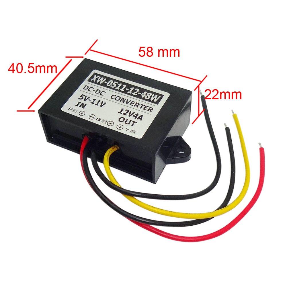 Waterproof Regulator Module Step Up Dc 5v 6v 7v 8v 9v 10v 11v To 12v Lm317 Adjustable 20v 15a Supply With Simple Smps Tracking 4a 48w For Car Power Inverter Converter Boost