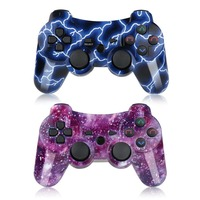 2019 Hot sell for Sony PS3 Controller Wireless 2 Pack Double Shock Gamepad for Playstation 3 Remoteswith Charging Cable