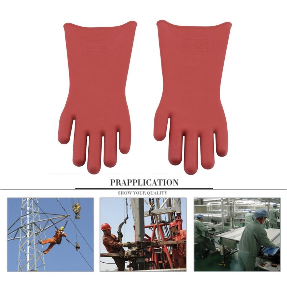 Hot Sellings Professional 40cm12 KV High Voltage Electrical Insulating Gloves 1 Pair Of Rubber Electrician 100% Safety GlovesHot Sellings Professional 40cm12 KV High Voltage Electrical Insulating Gloves 1 Pair Of Rubber Electrician 100% Safety Gloves