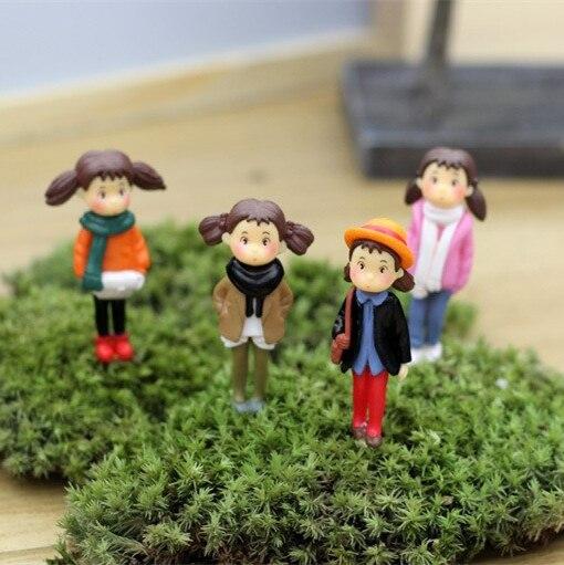 retail cute cartoon girls fairy garden miniatures mini gnomes moss terrariums resin crafts figurines for garden decoration zakka in figurines miniatures - Fairy Garden Miniatures