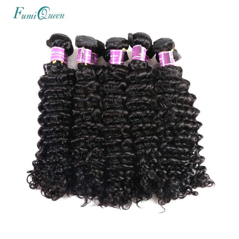 Ali Fumi Queen Hair Products 10PCS Lot Brazilian Deep Wave Natural Color Human Hair Bund ...