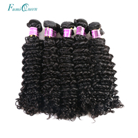 Ali Fumi Queen Hair Products 10PCS Lot Brazilian Deep Wave Natural Color Human Hair Bundles Virgin Hair With Free Shipping