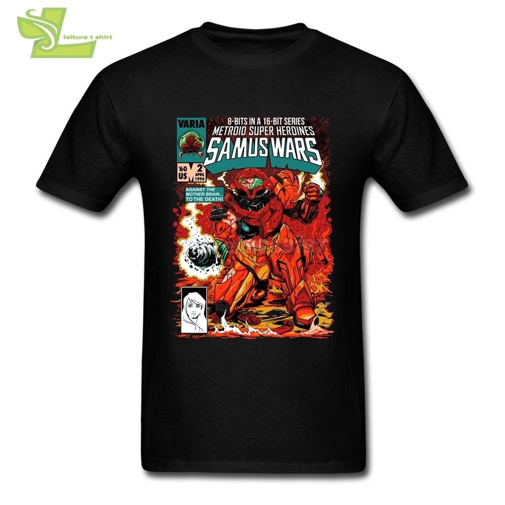 Super Metroid White T Shirt Man O Neck Tees Summer Shirts Men