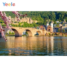 Yeele Landscape River Stone Bridge Castle Forest Photography Backdrops Personalized Photographic Backgrounds For Photo Studio
