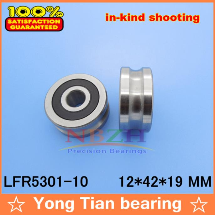 10 MM track LFR5301-10 NPP LFR5301 KDD R5301-10 2RS Groove Track Roller Bearings 12*42*19 mm (Precision double row balls) прогулочные коляски cool baby kdd 6699gb t