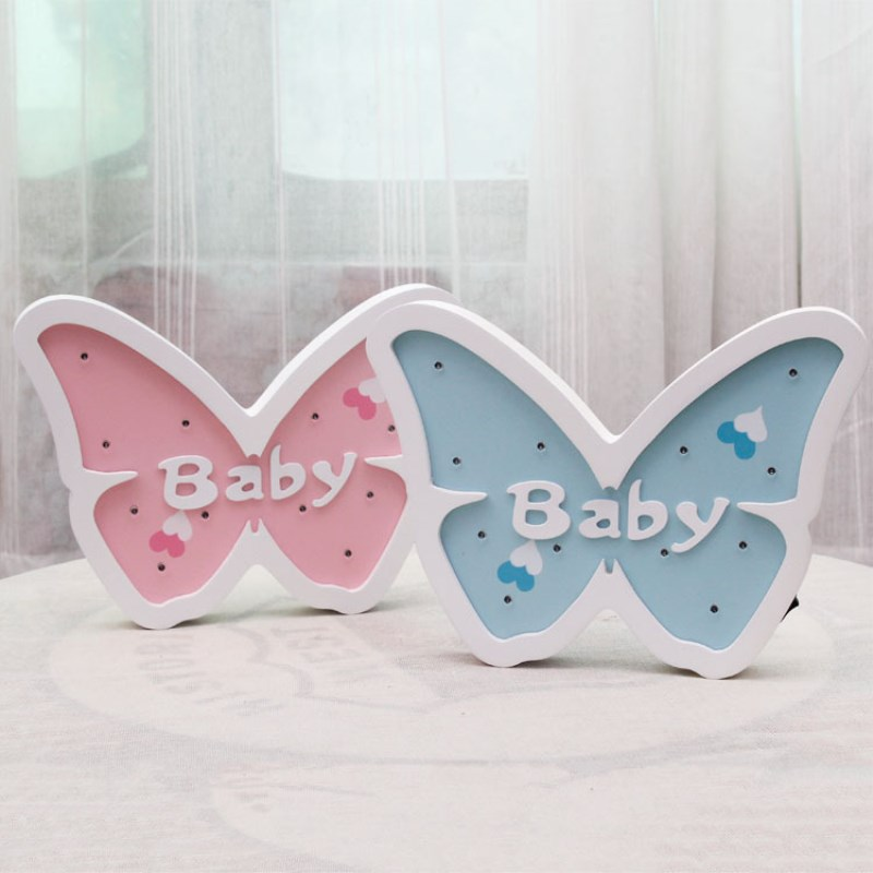Butterfly Led Night Light Wooden for Baby Children Kids Gift energy saving Table Lamp Bedroom Living Room Deco indoor lighting