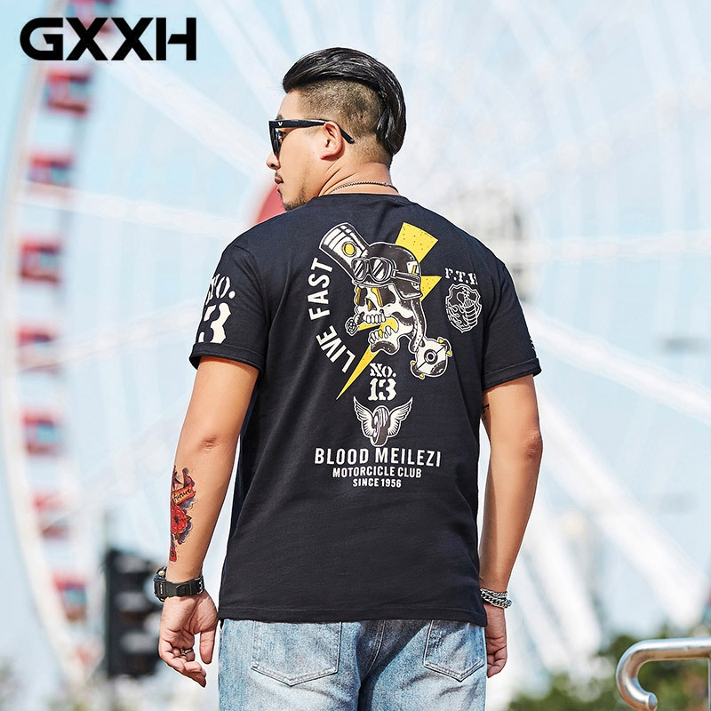 Gersri Summer Black White T Shirt Men Short Sleeve All-match Mens T Shirts Fashion Slim Fit Tshirt Men Loose O Neck Short Sleeve Keep You Fit All The Time Tops & Tees