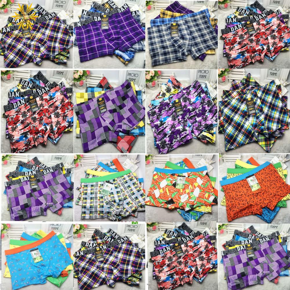 3Pcs Lot Plus Size XXL - 7XL Men's Cotton Boxer Panties Male Boxer Fashion Sexy Boxers Shorts Pouch Underpants