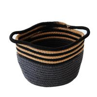 Creative Cotton Thread Handmade Woven Basket Laundry Sundries Toys Knitting Ball Storage Rattan Basket Organizer Hamper