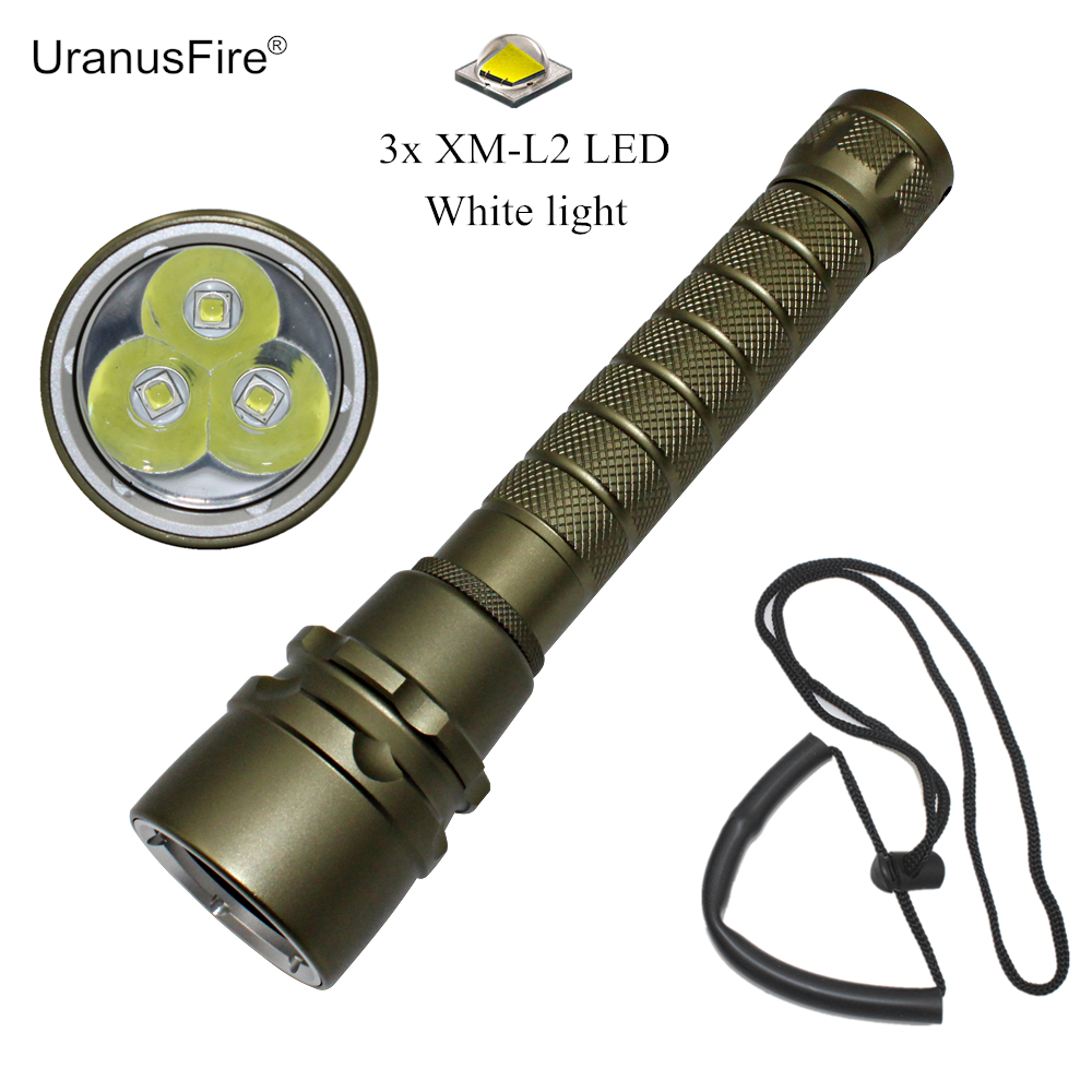 3000LM L2 LED Waterproof Scuba Diver Diving Flashlight Underwater Dive Torch Hunting Lamp for 18650 Battery underwater 100m 7000 lumens 4xcree xm l l2 led waterproof scuba diver diving led flashlight torch lamp for 18650 26650 battery