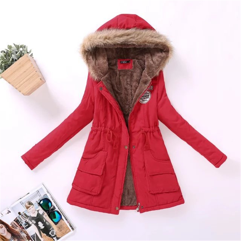 New Parka Female Women Winter Jackets Coat Thickening Cotton Winter Jacket Womens Outwear Parkas For Women Winter Coats Hot Sale(China)