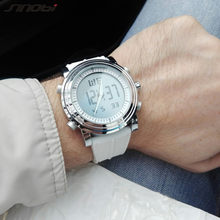 Sinobi mujeres del estilo relojes de pulsera deportivo digital fecha cronógrafo impermeable señoras corriendo relojes montres femmes