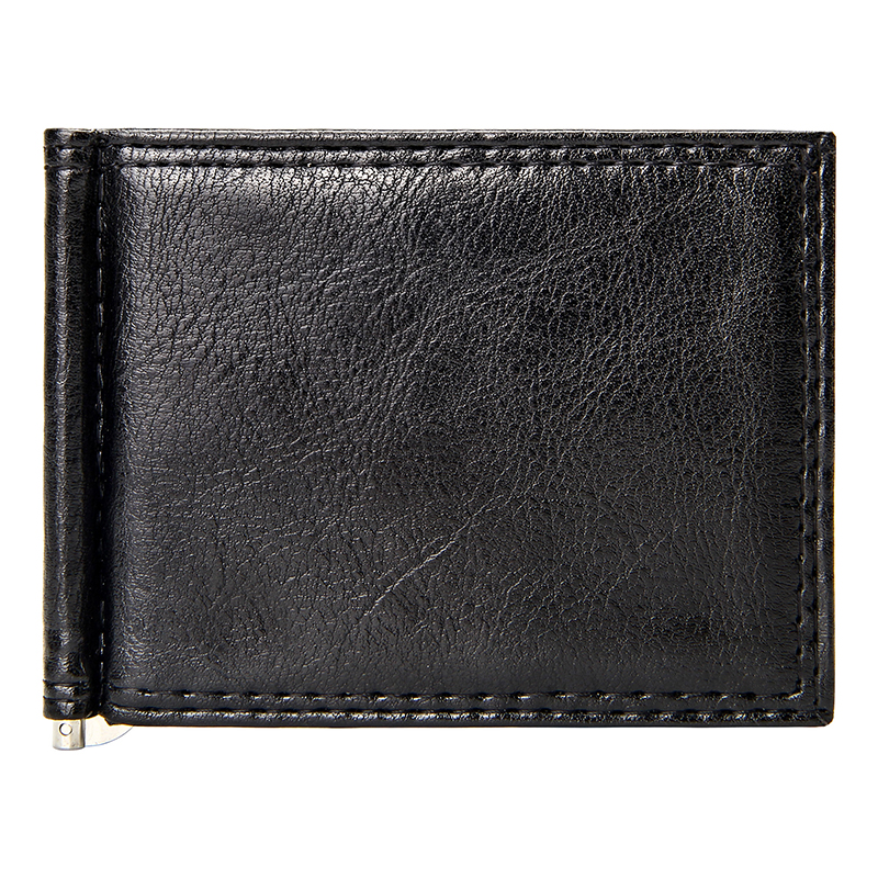 Slim Money Clip Men Vintage Leather Bifold Short Wallets Men Clips Cash Dollar Pu Leather Brief Credit Card Case Bifold Clutch