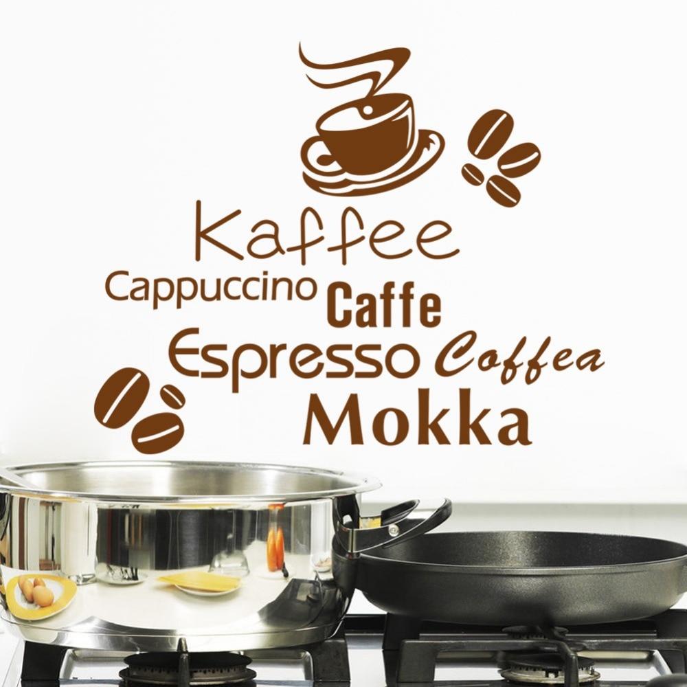 8367 Enioy Life Kaffee Coffee Cappuccino Living Room Kitchen Coffee Shop Wall Sticker Home Decor