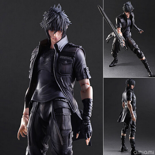 NEW hot 28cm Final Fantasy Noctis Lucis Caelum collectors action figure toys Christmas gift doll new hot 22cm final fantasy gabranth collectors action figure toys christmas gift doll